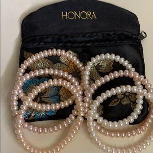 Honora set of 6 stretch bracelets